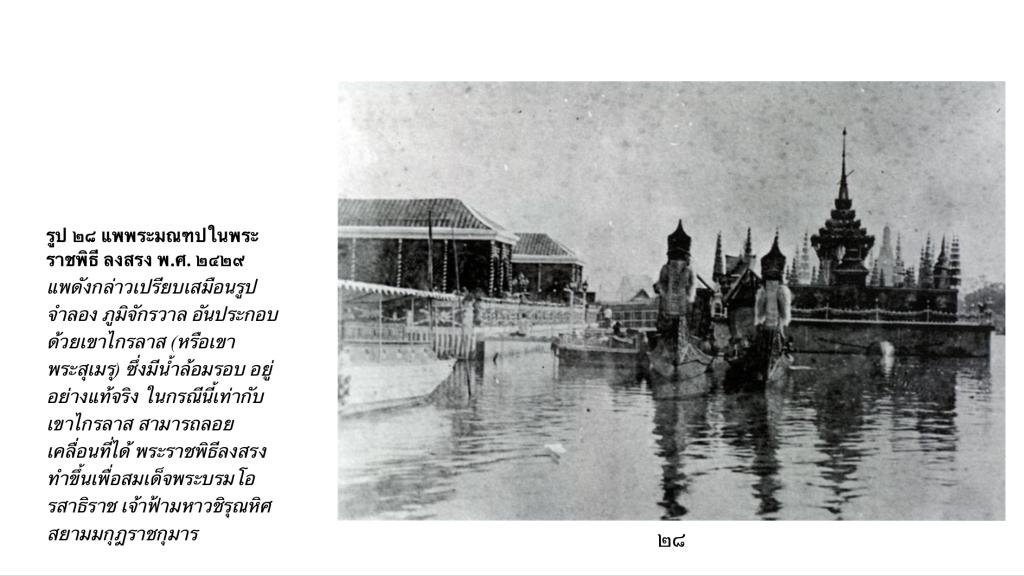 แพพระมณฑป ในพระราชพิธีลงสรง ปี พ.ศ.2429